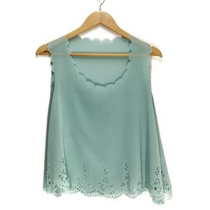 Max C London | Scalloped Laser Cut Tank Blouse
